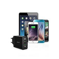 Зарядное устройство ANKER PowerPort+ 18W 1xUSB With QC3.0 & PowerIQ Black, фото 2