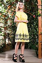 Женское расклешенное платье из батиста с вышивкой (1381-1382 svt), фото 3