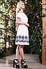 Женское расклешенное платье из батиста с вышивкой (1381-1382 svt), фото 2