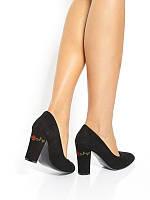 fb903b338e7798 Туфли-лодочки женские кожаные черного цвета Rylko (Туфлі-човники жіночі  шкіряні чорні)