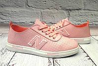 Кроссовки стильные женские New Balance розовые/салатовые NB0008