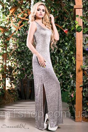 Женское платье в пол серебряного цвета (1384 svt), фото 2
