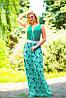 Женское летнее платье в пол из микромасла (1356/0915-1355/0914 svt), фото 4