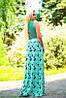 Женское летнее платье в пол из микромасла (1356/0915-1355/0914 svt), фото 2