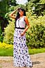 Женское летнее платье в пол из микромасла (1356/0915-1355/0914 svt), фото 3
