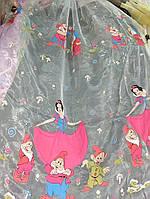 "Тюль с детским рисунком ""Белоснежка"" , фото 1"