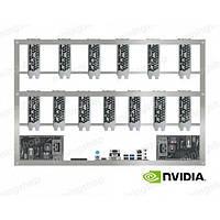 Оборудование для майнинга криптовалют на 12 видеокарт GTX 1080 Ti