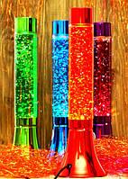 Лавовая лампа цилиндрической формы 37х11.5х11.5 см красный