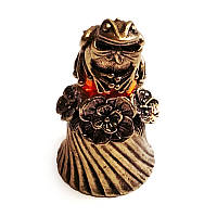 Янтарная статуэтка-колокольчик Лягушка