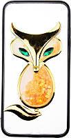 Чехол-накладка TOTO TPU Case Decorative Stones IPhone 6 Plus/6S Plus A Fox Black, фото 1