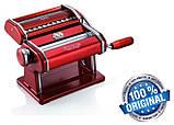 Паста-машина для приготування локшини і нарізки тіста (локшинорізка) Marcato Atlas 150 Nero, чорна, фото 2