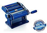 Паста-машина для приготування локшини і нарізки тіста (локшинорізка) Marcato Atlas 150 Nero, чорна, фото 3