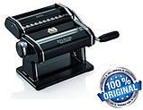 Паста-машина для приготування локшини і нарізки тіста (локшинорізка) Marcato Atlas 150 Nero, чорна, фото 5