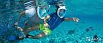 Инновационная маска для снорклинга подводного плавания Easybreath голубая, фото 7