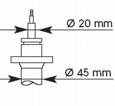 Амортизатор подвески KYB (Колба 45 мм)