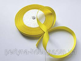 Стрічка репсова 13мм ( 22 метри в рулоні) жовта
