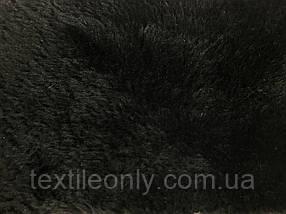 Мех искусственный Дубляж на замше цвет черный
