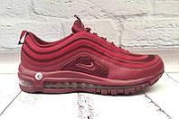 Кроссовки мужские Nike верх комбинированный цвет марсала/черные NI0103