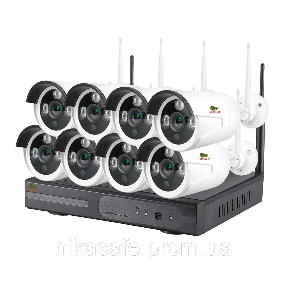 Комплект Wi-Fi IP видеонаблюдения Outdoor Wireless Kit 2MP 8xIP