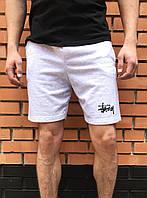 Серые шорты мужские Stussy / спортивные