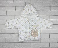 Утепленная кофта на кнопках с капюшоном для ребенка, фото 1