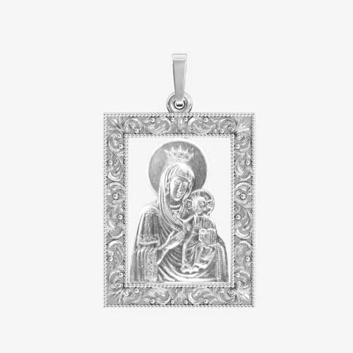 Ладанка серебряная Богородица ЛП-117