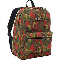 Рюкзак Dickies Recess Backpack (Green/Red Skull Camo Pile), фото 1