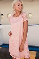 Платье летнее красивое кружевное свободного кроя разные цвета Smdi2492, фото 1