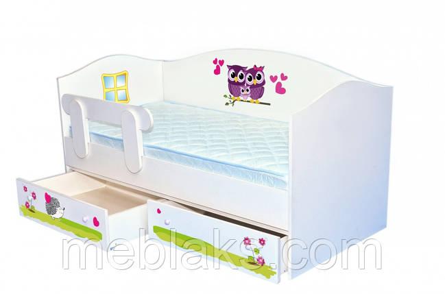 """Кроватка Домик """"Совушки"""" Mebelkon, фото 2"""