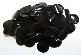 Конфетти кружки - ЧЕРНЫЕ. Упаковка 100 грамм