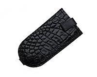 Ключница из кожи крокодила Черная (ck01)