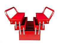 Ящик для инструмента металлический 440мм на 5 отделений Гранит