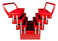 Ящик для инструмента металлический 550мм на 7 отделений Гранит