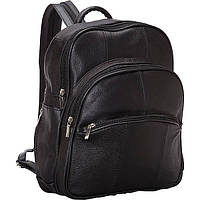 Рюкзак кожаный R & R Collections Leather Triple Zip Around Large Backpack (Black)