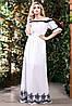 Батистовое летнее платье в пол с вышивкой (1404-1405-1406 svt), фото 6