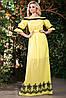 Батистовое летнее платье в пол с вышивкой (1404-1405-1406 svt), фото 5