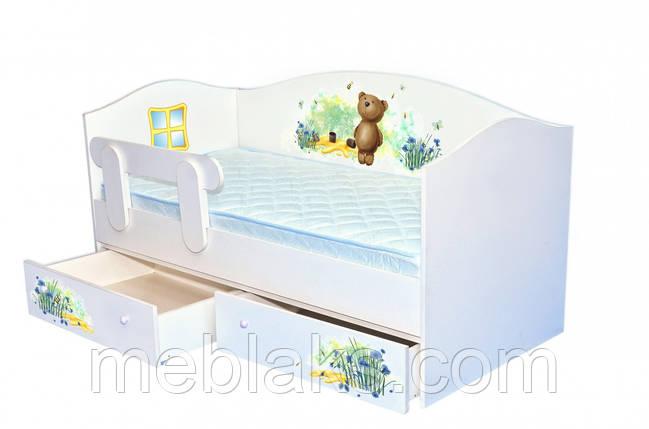 """Кроватка Домик """"Мишка\мед"""" Mebelkon, фото 2"""
