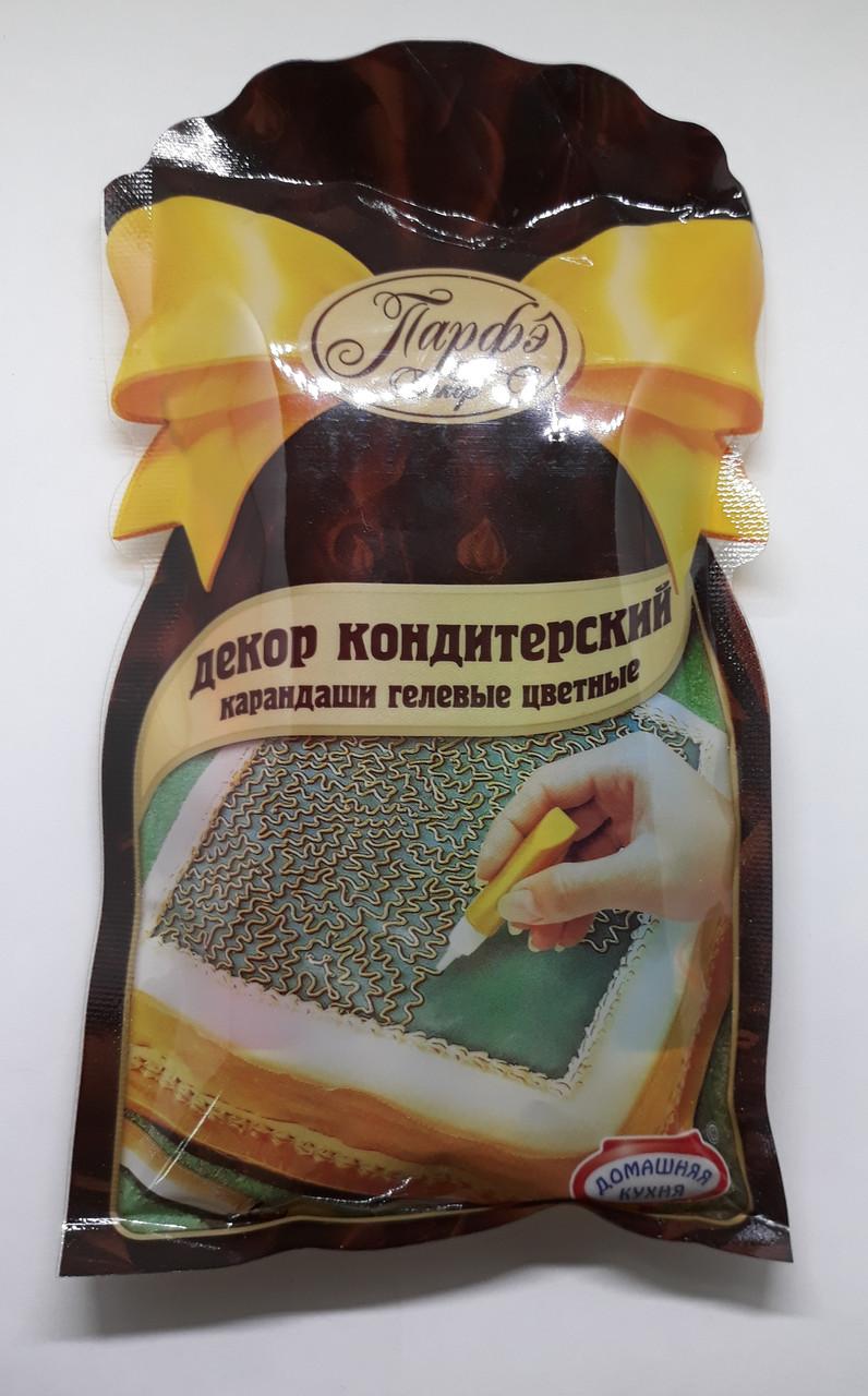 """Гелевые  пищевые карандаши""""Парфе"""" 4шт. Галетте-  01087"""