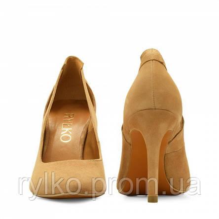 6c7f05730c15 Туфли-лодочки женские кожаные темно-бежевого цвета Rylko (Туфлі-човники  жіночі шкіряні