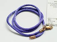 Детский шелковый шнурок с позолотой