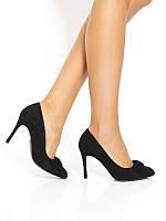 af479c4f76abc8 Туфли-лодочки женские кожаные черного цвета ESTIMA (Туфлі-човники жіночі  шкіряні чорні)