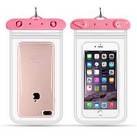 Водонепроницаемый чехол для смартфона Flounder Waterproof розовый, фото 1