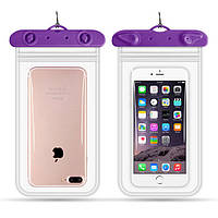 Водонепроницаемый чехол для смартфона Flounder Waterproof фиолетовый, фото 1