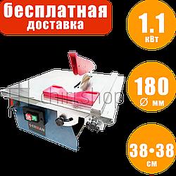 Плиткорез электрический с охлаждением пассивным Erman TC 101 станок для резки плитки с лотком электроплиткорез
