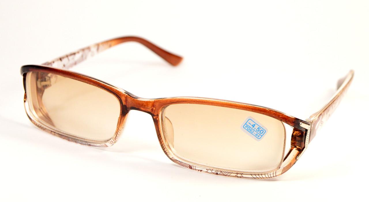Жіночі окуляри з тонованою лінзою (9088 тон до-до)