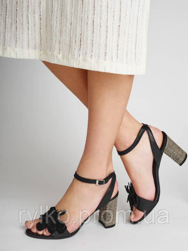 2044c0654 Босоножки женские кожаные черного цвета Rylko (Босоніжки жіночі шкіряні  чорного кольору) 9HH94_T4_ZA5 - Rylko