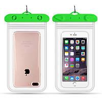 Водонепроницаемый чехол для смартфона Flounder Waterproof зеленый, фото 1