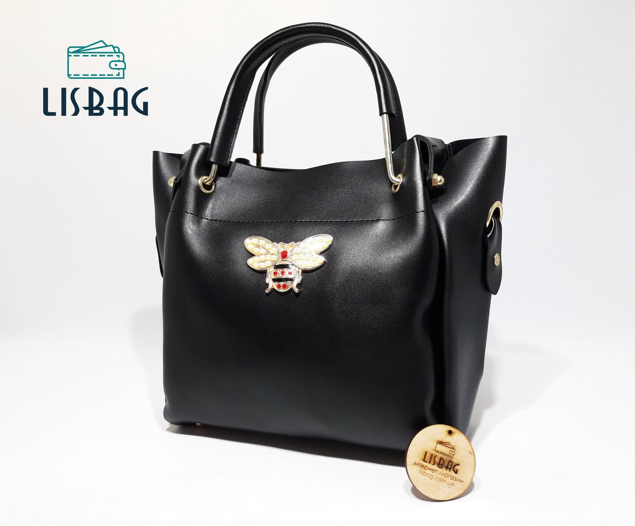 43157b3910fc Классическая Черная вместительная сумка Gucci копия тренд 2018 года -  Интернет магазин Lisbag в Умани