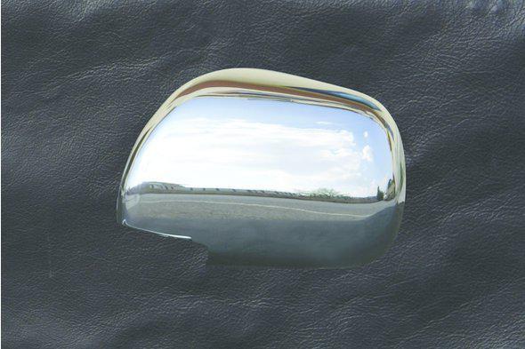 Хромированные накладки на зеркала (2 шт) (нержавейка) Тюнинг Toyota Camry 2007-2013 гг.
