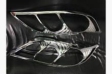Хромированные накладки на фари (2 шт, пластик) Тюнинг Toyota Camry 2007-2013 гг.